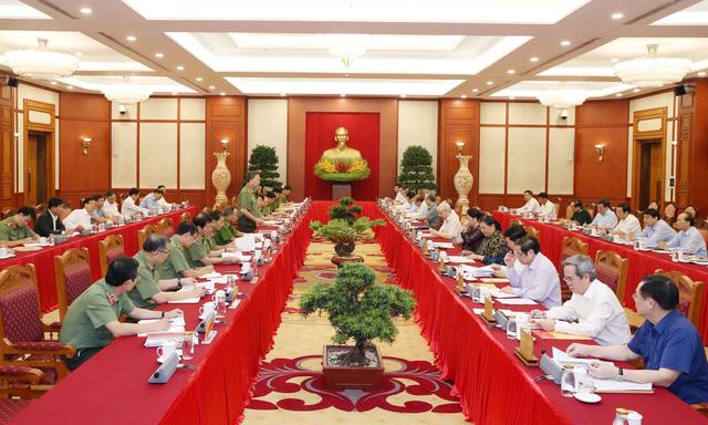 Bộ Chính trị cho ý kiến công tác chuẩn bị Đại hội Đảng bộ Công an - ảnh 1