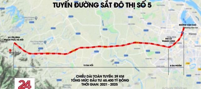 Dự án tuyến metro số 5 tuyến Văn Cao - Hòa Lạc tại Hà Nội có khả thi? - Ảnh 1.