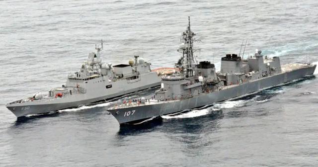 Ấn Độ - Nhật Bản tập trận hải quân JIMEX-2020 - Ảnh 1.