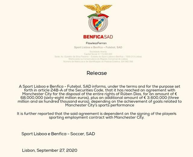 Manchester City đạt thỏa thuận chiêu mộ trung vệ của Benfica - Ảnh 2.