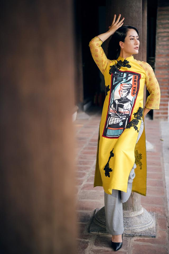 NTK Cao Minh Tiến đưa nghệ thuật Bài Chòi vào áo dài - Ảnh 5.