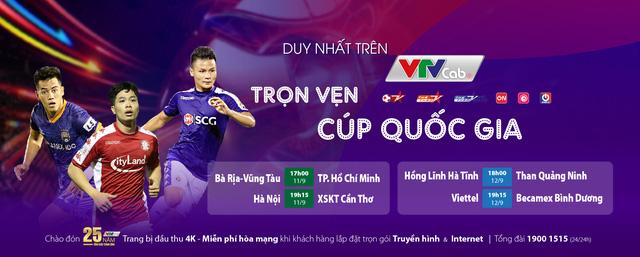 Chốt lịch thi đấu Cúp Quốc gia 2020: 4 trận tứ kết trong hai ngày 11 và 12/9 (VTVcab) - Ảnh 1.