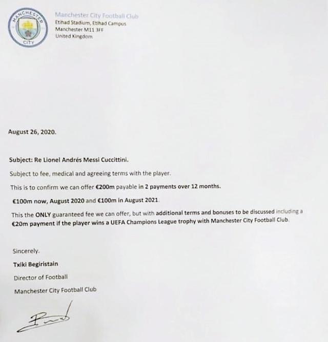Rò rỉ thông tin Man City hỏi mua Messi với giá 200 triệu euro - Ảnh 1.