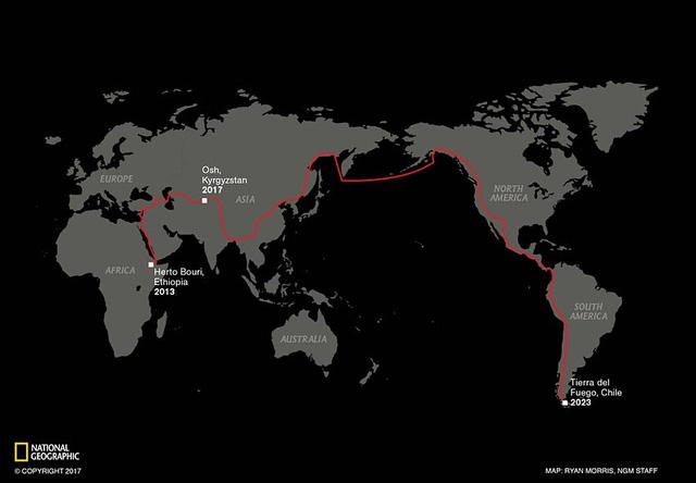 Nhà báo dành 7 năm đi bộ qua 3 châu lục để khám phá khai nguyên loài người - Ảnh 1.