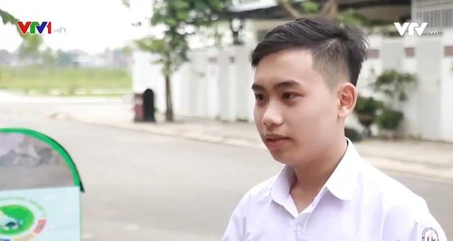 Ấn tượng thùng rác thông minh do học sinh Việt chế tạo - Ảnh 1.