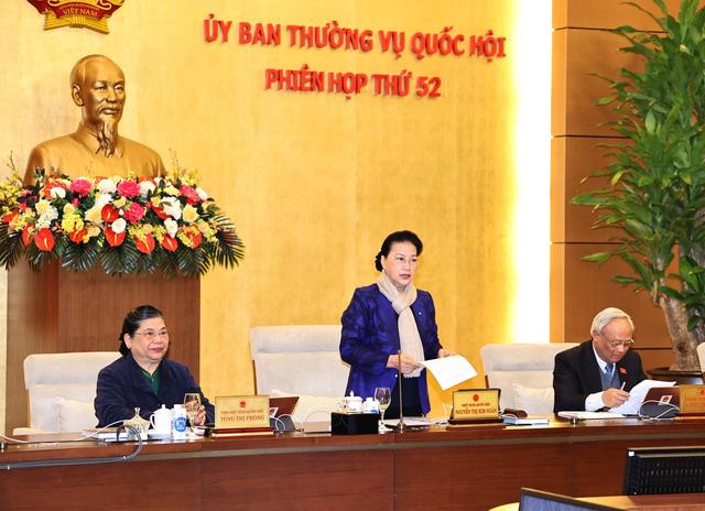 Nhiều nội dung quan trọng được bàn trong phiên họp thứ 52 của Ủy ban Thường vụ Quốc hội - Ảnh 1.