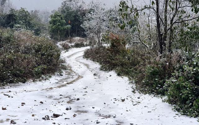 Mưa tuyết trắng trời Sa Pa và Y Tý - Ảnh 1.