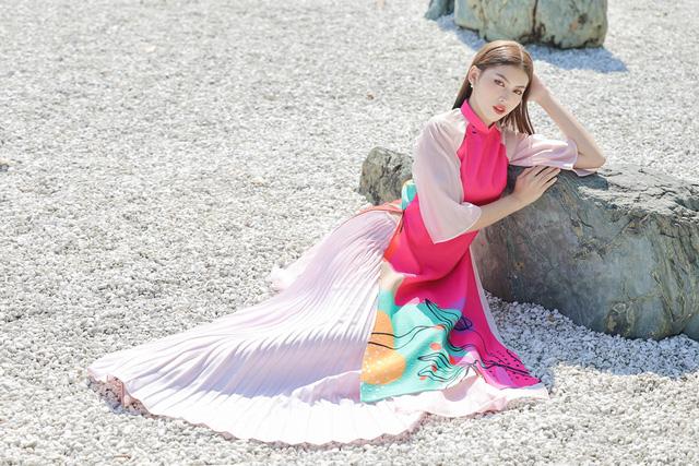 Á hậu Phương Anh, Ngọc Thảo gợi ý diện áo dài Tết nhiều màu - Ảnh 8.