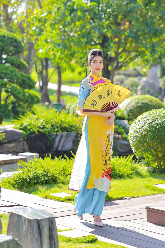 Á hậu Phương Anh, Ngọc Thảo gợi ý diện áo dài Tết nhiều màu - Ảnh 2.