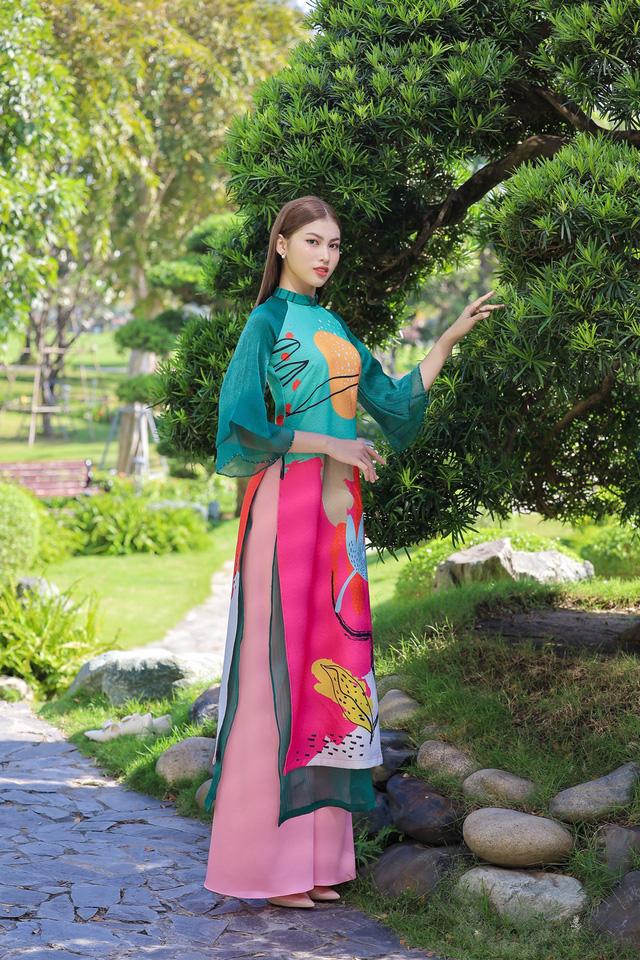 Á hậu Phương Anh, Ngọc Thảo gợi ý diện áo dài Tết nhiều màu - Ảnh 7.