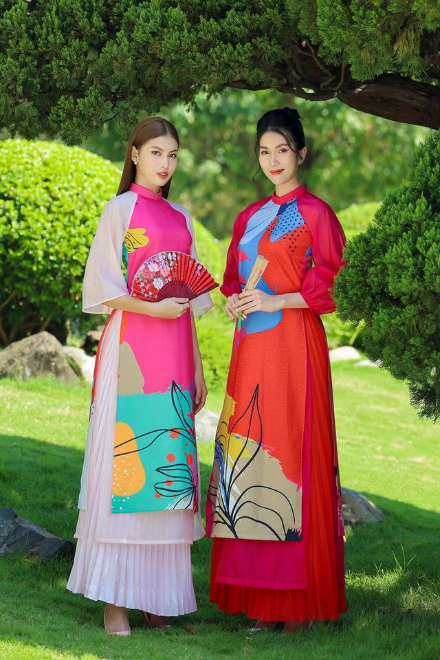 Á hậu Phương Anh, Ngọc Thảo gợi ý diện áo dài Tết nhiều màu - ảnh 1
