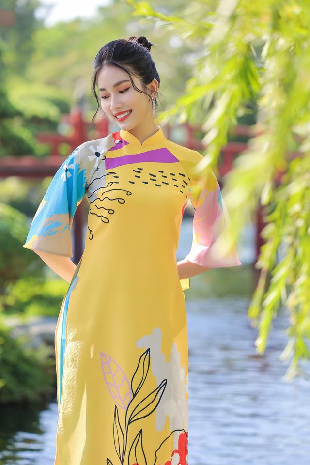 Á hậu Phương Anh, Ngọc Thảo gợi ý diện áo dài Tết nhiều màu - Ảnh 4.
