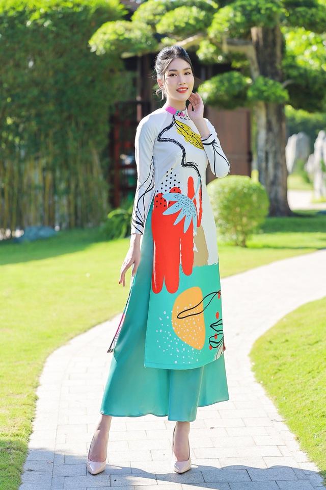 Á hậu Phương Anh, Ngọc Thảo gợi ý diện áo dài Tết nhiều màu - Ảnh 3.