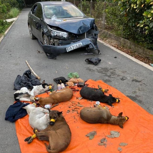 Trộm chó lái ô tô lao thẳng vào tổ tuần tra chốt chặn - Ảnh 2.