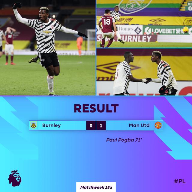 Burnley 0-1 Man Utd: Pogba lập công, MU độc chiếm ngôi đầu! - Ảnh 2.