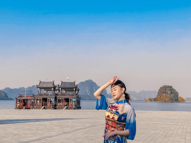 Nhan sắc ngọt ngào của Phương Oanh khi diện áo dài - Ảnh 3.