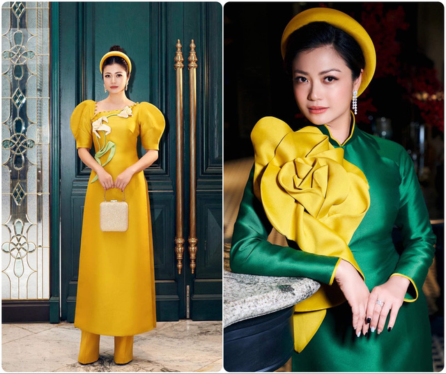 Hồng Diễm, Phương Oanh cùng dàn diễn viên diện áo dài: Ai xinh đẹp hơn? - Ảnh 4.