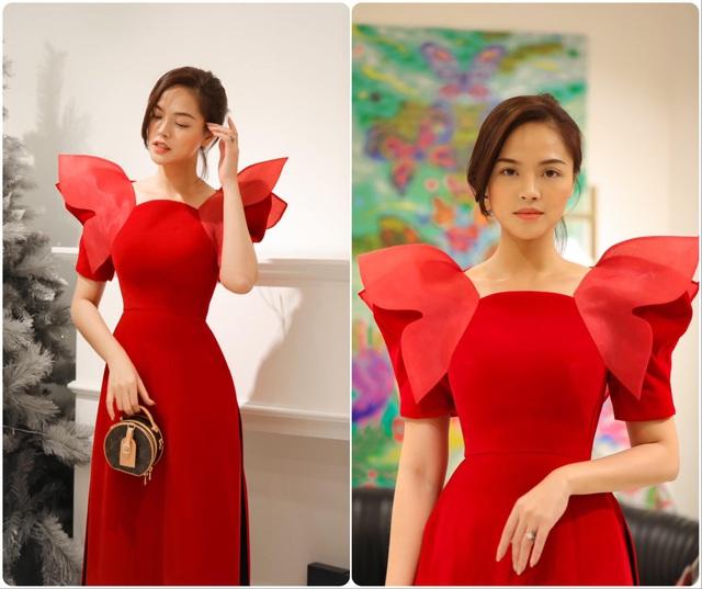 Hồng Diễm, Phương Oanh cùng dàn diễn viên diện áo dài: Ai xinh đẹp hơn? - Ảnh 6.