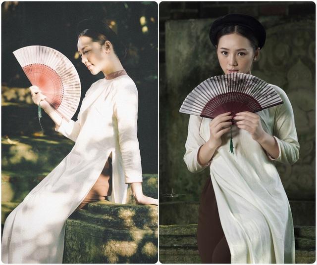 Hồng Diễm, Phương Oanh cùng dàn diễn viên diện áo dài: Ai xinh đẹp hơn? - Ảnh 7.