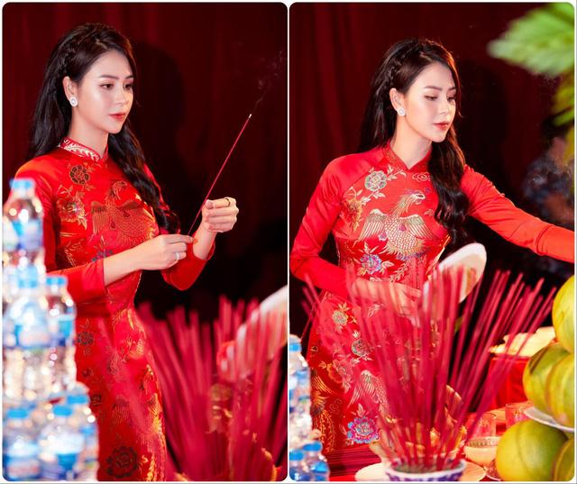 Hồng Diễm, Phương Oanh cùng dàn diễn viên diện áo dài: Ai xinh đẹp hơn? - Ảnh 8.