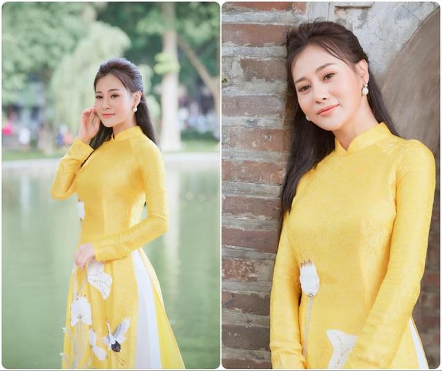 Hồng Diễm, Phương Oanh cùng dàn diễn viên diện áo dài: Ai xinh đẹp hơn? - Ảnh 9.