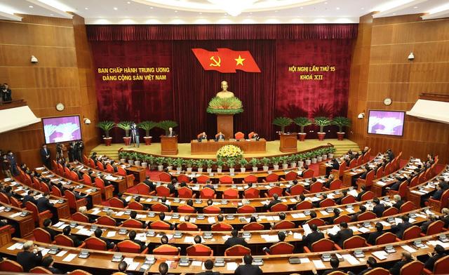 ẢNH: Tổng Bí thư, Chủ tịch nước Nguyễn Phú Trọng và các đại biểu dự Hội nghị Trung ương 15 - Ảnh 12.