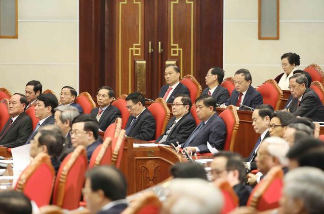 ẢNH: Tổng Bí thư, Chủ tịch nước Nguyễn Phú Trọng và các đại biểu dự Hội nghị Trung ương 15 - Ảnh 10.