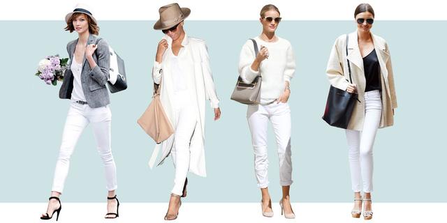 Muôn kiểu biến hóa thời trang chỉ với quần jeans trắng - ảnh 1