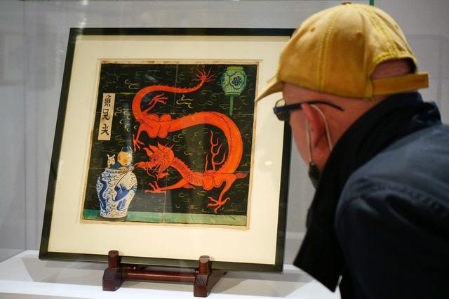 Đấu giá hơn 56 tỷ VNĐ cho bức vẽ người hùng truyện tranh Tintin - Ảnh 2.