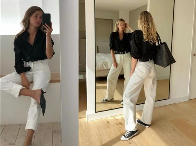 Muôn kiểu biến hóa thời trang chỉ với quần jeans trắng - ảnh 8