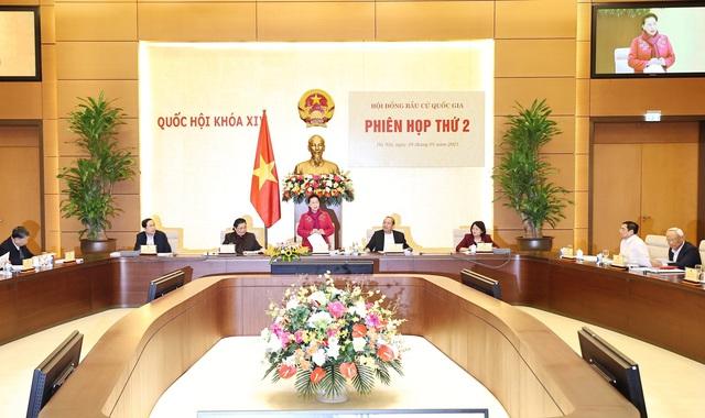 Chủ tịch Quốc hội chủ trì Phiên họp thứ 2 Hội đồng bầu cử Quốc gia - Ảnh 1.