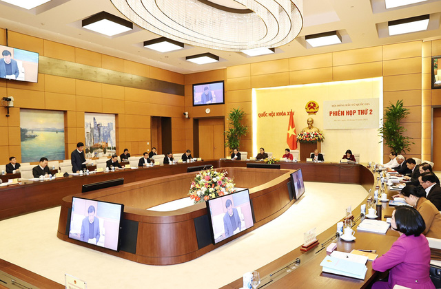 Chủ tịch Quốc hội chủ trì Phiên họp thứ 2 Hội đồng bầu cử Quốc gia - Ảnh 4.
