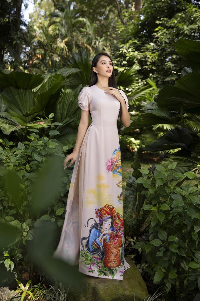 Hoa hậu Tiểu Vy đẹp tinh khôi với áo dài Tết - Ảnh 5.