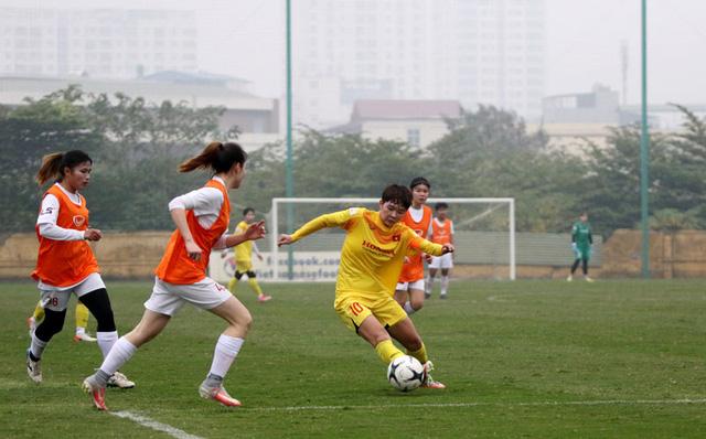 Đội hình trẻ tuyển nữ Quốc gia thắng đậm đội nữ Hà Nội II - Ảnh 3.