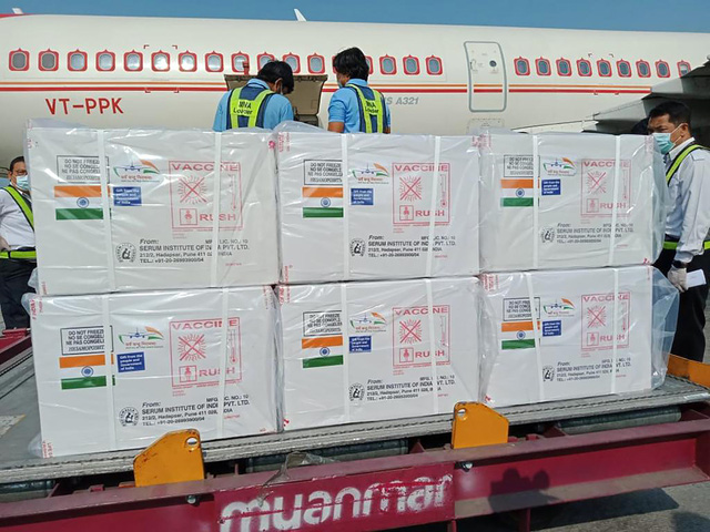 Myanmar nhận 1,5 triệu liều vaccine COVID-19 miễn phí từ Ấn Độ - Ảnh 2.