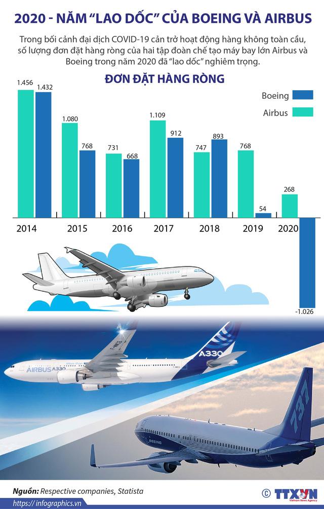 """2020 - Năm """"lao dốc"""" của Boeing và Airbus - Ảnh 1."""
