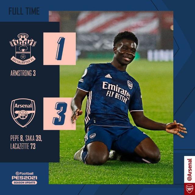 Vòng 20 Ngoại hạng Anh: Saka tỏa sáng, Arsenal ngược dòng ngoạn mục trước Southampton - Ảnh 5.