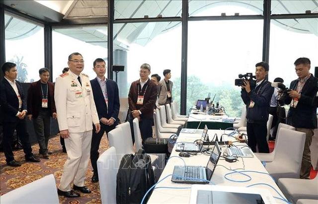 Kiểm tra công tác bảo đảm an ninh trật tự cho Đại hội XIII của Đảng - Ảnh 4.