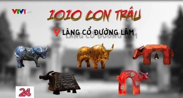Độc đáo 1010 con trâu sơn mài tại Làng cổ Đường Lâm - Ảnh 1.
