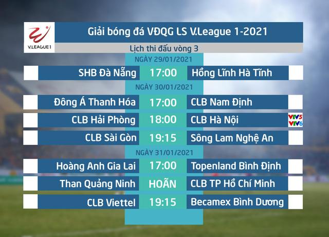 Lịch thi đấu và trực tiếp vòng 3 LS V.League 1-2021: CLB Hải Phòng - CLB Hà Nội  - Ảnh 1.