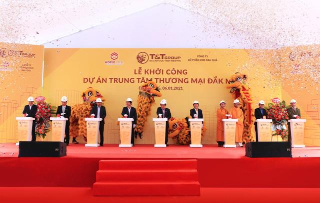 T&T và WorldSteel Group khởi công xây dựng trung tâm thương mại tại Đắk Nông - Ảnh 1.