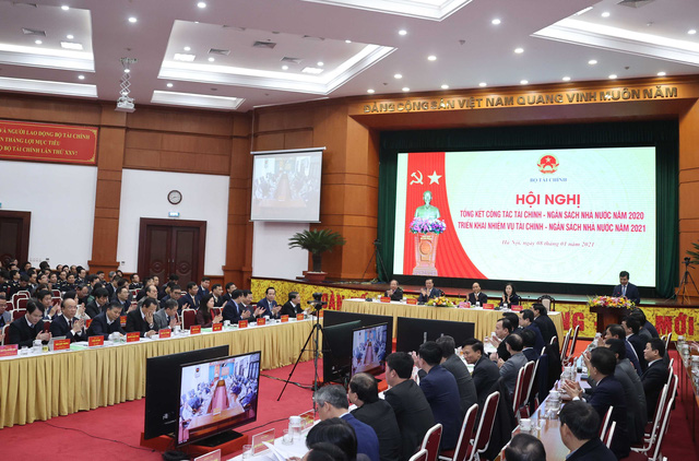 Thủ tướng dự Hội nghị triển khai nhiệm vụ tài chính - ngân sách nhà nước năm 2021 - Ảnh 4.