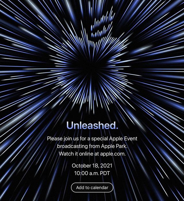 Apple công bố sự kiện Unleashed diễn ra ngày 18/10 - ảnh 1