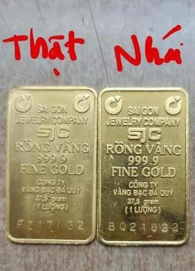Vàng miếng nhái SJC xuất hiện khi giá đắt hơn thế giới 10 triệu đồng/lượng - ảnh 2