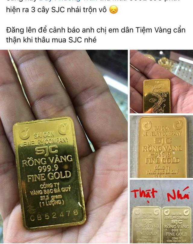 Vàng miếng nhái SJC xuất hiện khi giá đắt hơn thế giới 10 triệu đồng/lượng - ảnh 1