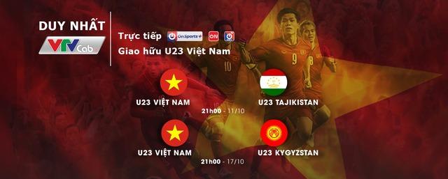 VTVcab trực tiếp 2 trận giao hữu của U23 Việt Nam tại UAE - ảnh 1
