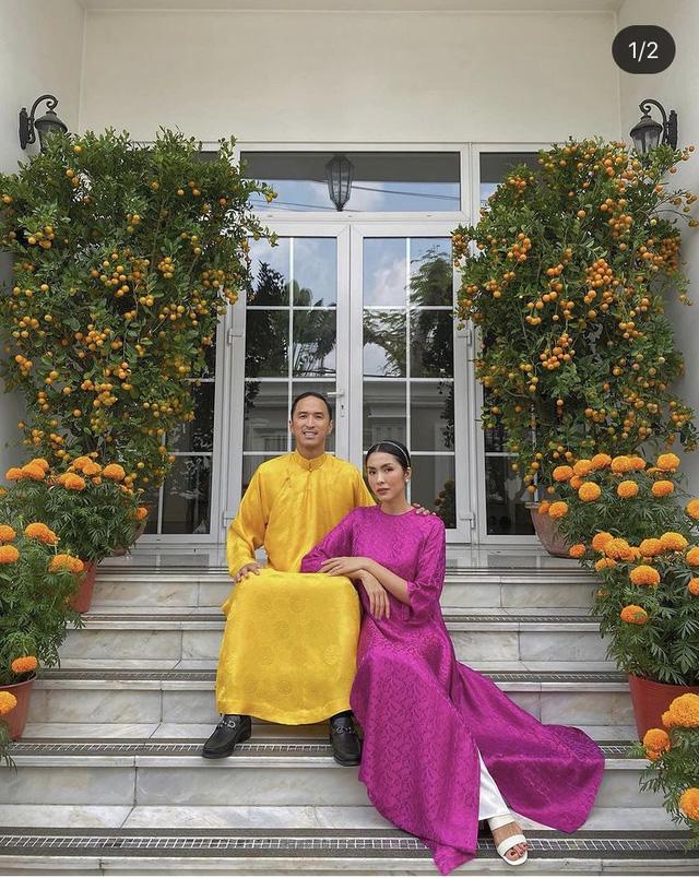 Hà Hồ khoe ảnh Tết siêu đáng yêu của gia đình, Hà Tăng truyền thống với áo dài hồng - Ảnh 4.