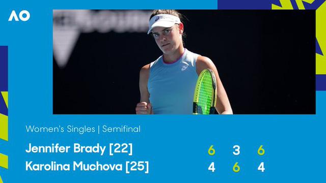 Jennifer Brady thắng kịch tính Karolina Muchova để giành quyền vào chung kết Australia mở rộng 2021 - Ảnh 5.