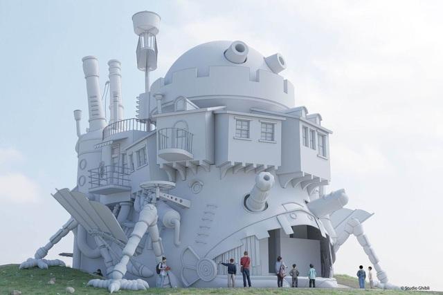 """Công viên Ghibli công bố sẽ xây dựng lâu đài """"Howl's Moving Castle"""" - ảnh 1"""