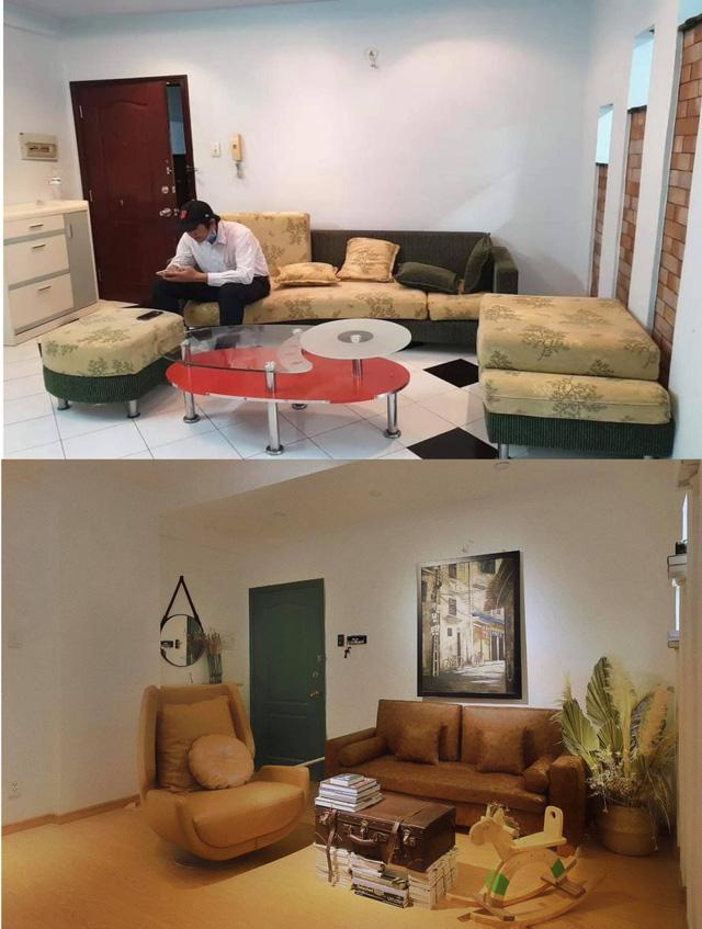 Chàng trai cải tạo chung cư cũ kỹ, màu mè thành căn hộ xinh xắn - Ảnh 3.